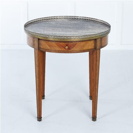 19th Century French Inlaid Gueridion with Marble Top CO0611393