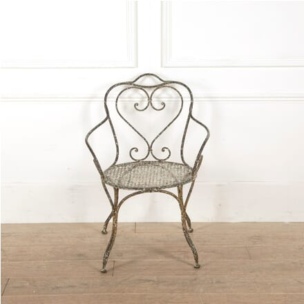 19th Century French Iron Arm Chair CH4410859