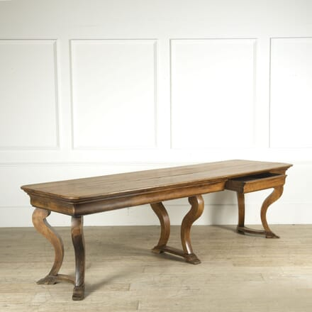 19th Century French Oak and Pine Drapers Table TC019371