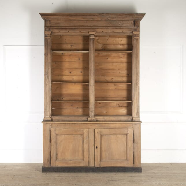 19th Century French Walnut Open Bookcase BK1113158