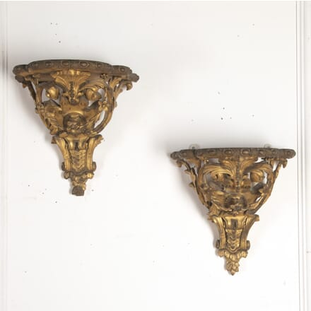19th Century Giltwood Wall Brackets BK7613712