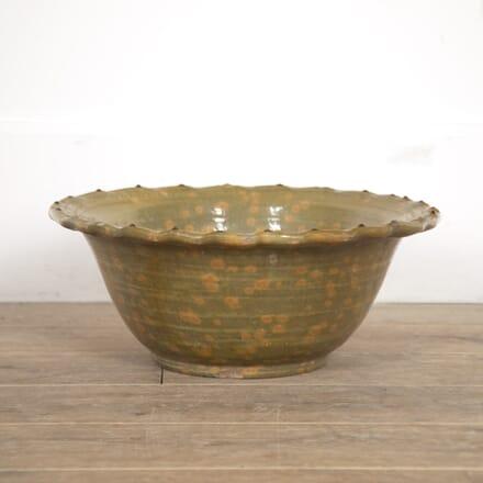 French 19th Century Dappled Glazed Bowl DA5216362