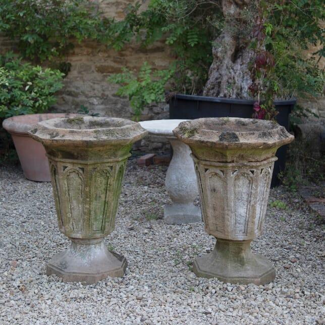 19th Century Gothic Urns GA1910991