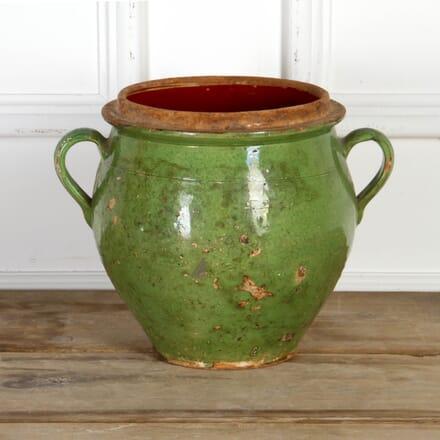 19th Century Green Confit Pot DA7117687