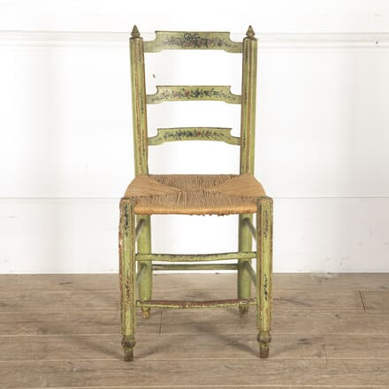 19th Century Green Painted Provençal Chair CH2913554