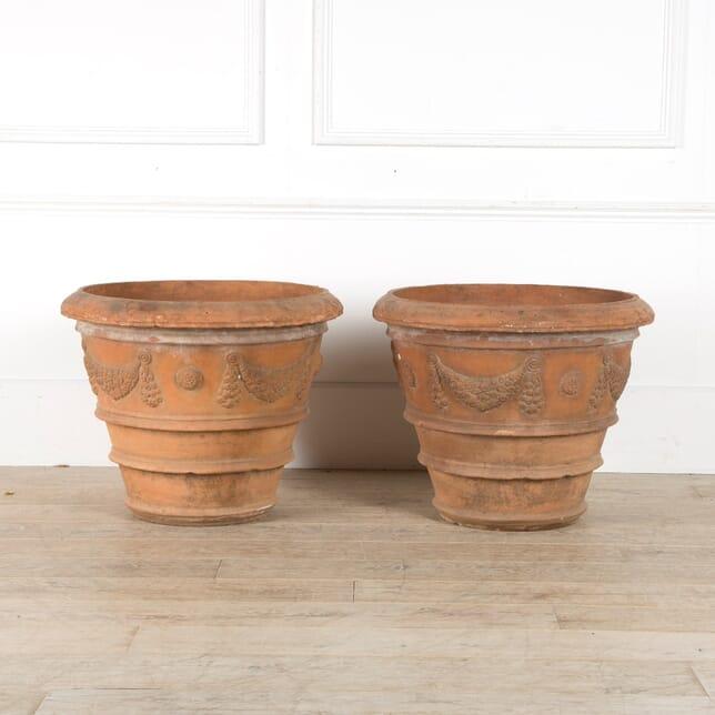 19th Century Italian Terracotta Planters GA029788