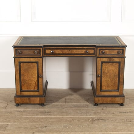 19th Century Lamb of Manchester Ebonised Desk DA8814824