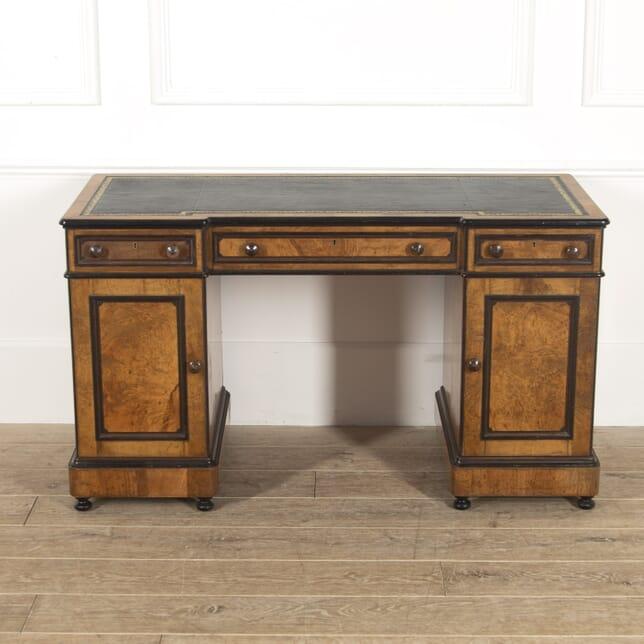 19th Century Lamb of Manchester Ebonised Desk DA8814824