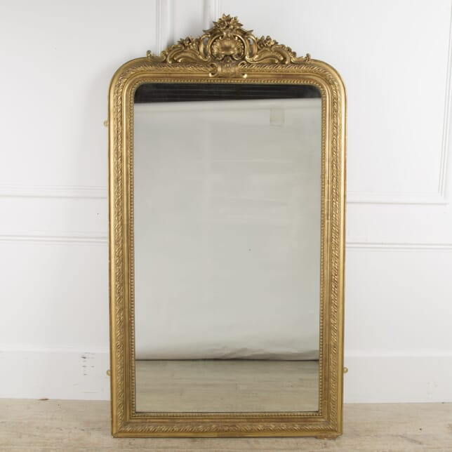 19th Century Large French Gilt Mirror MI2010331