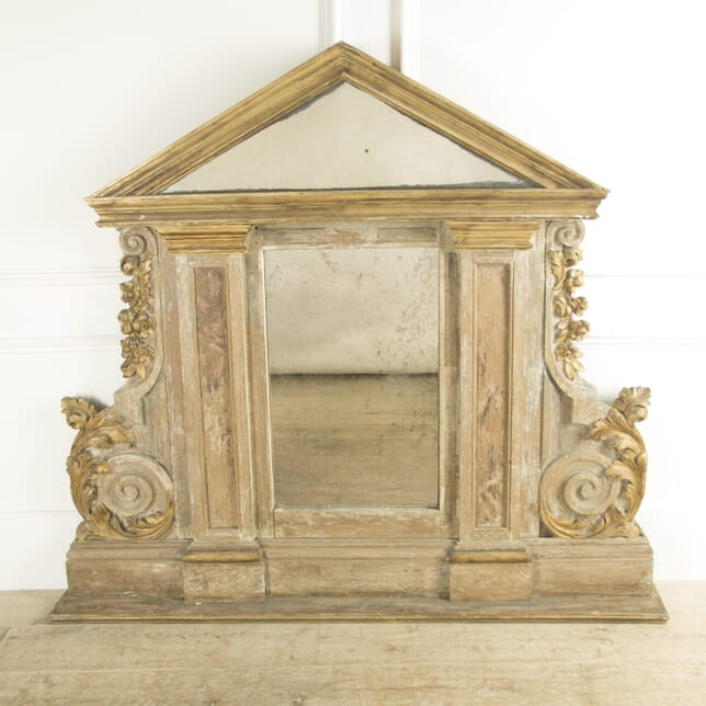 19th Century Large French Painted and Gilt Mirror MI8810076