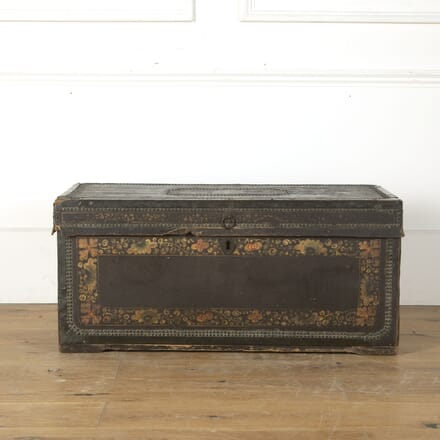 19th Century Leather and Brass Studded Trunk CT0313537