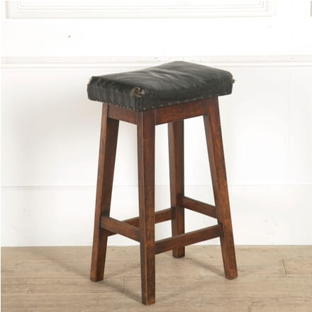 19th Century Leather Topped Mill Stool ST2059809
