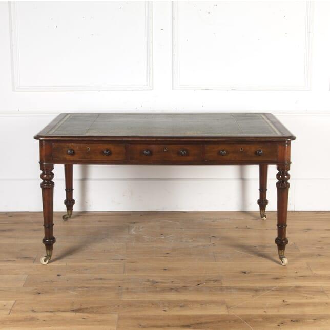 19th Century Mahogany Library Table DB8015117