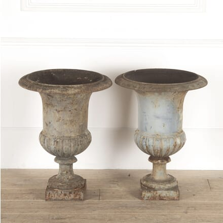 Pair of 19th Century Medici Garden Urns GA6014549