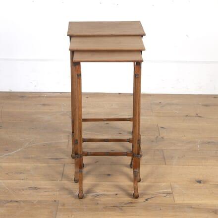 19th Century Bleached Mahogany Nesting Tables TC7316280