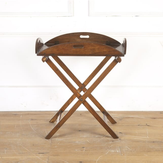 19th Century Oak Butler's Tray on Stand DA1014341