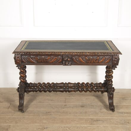 19th Century Carved Oak Library Table DB8815617