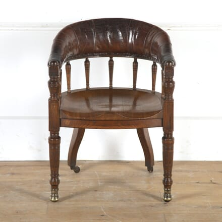 19th Century Oak and Leather Desk Chair CH0316001