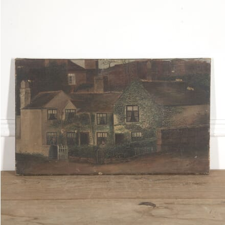 19th Century Oil on Canvas of Country Cottage WD7715079
