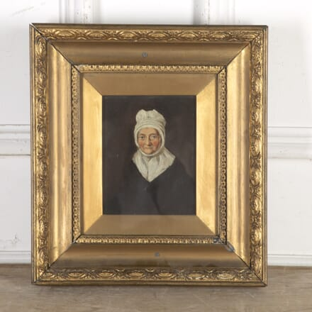 19th Century Oil Painting of an Old Lady WD5916455