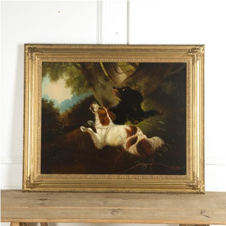 19th Century Oil Painting of Two Spaniels WD889971
