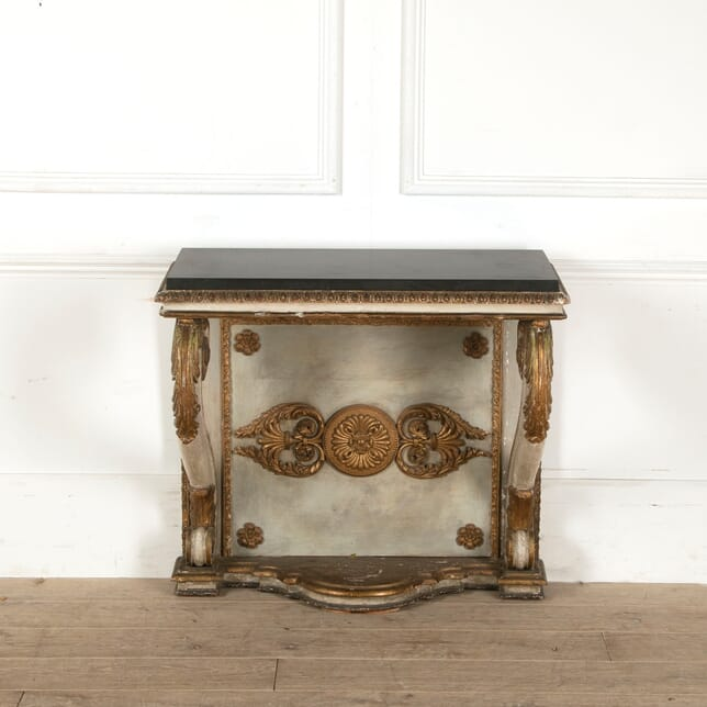 19th Century Painted and Gilded Italian Console CO9211350
