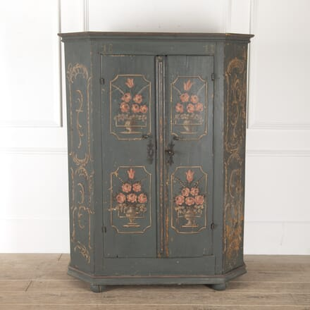 19th Century Painted Bavarian Cupboard CU1113193