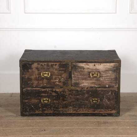 19th Century Painted Campaign Chest DA8217093