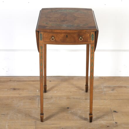 19th Century Painted Satinwood Pembroke Table TC8013761
