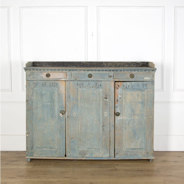 19th Century Painted Swedish Buffet CU5110066