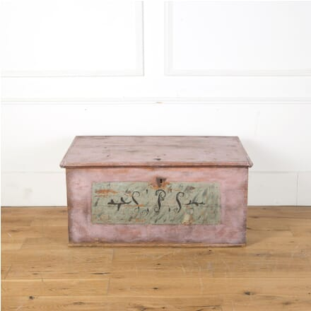 19th Century Painted Swedish Marriage Trunk DA5910383