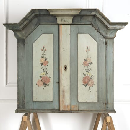 19th Century Painted Swedish Wall Cupboard BK2010089