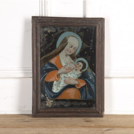 19th Century Religious Painting on Glass WD8016668