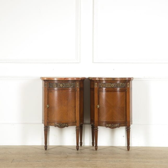 19th Century Pair of Exotic Veneer Bedside Tables BD889760