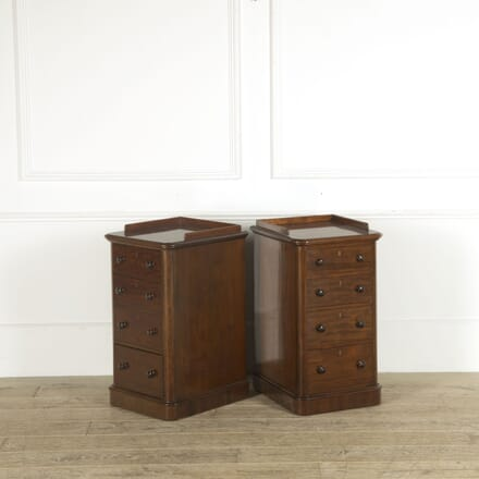 19th Century Pair of Galleried Bedside Cabinets BD889535