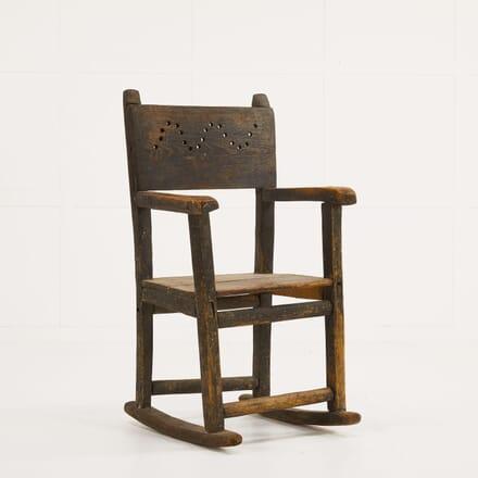 19th Century Pine 'Folk Art' Rocking Chair CH069915