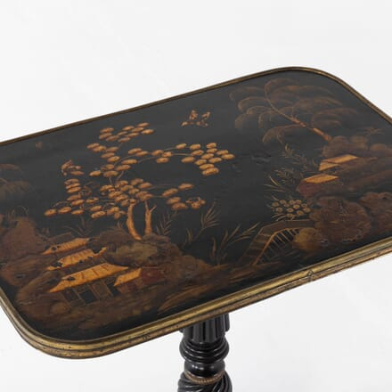 19th Century Regency Chinoiserie Lacquered Table TC0610949