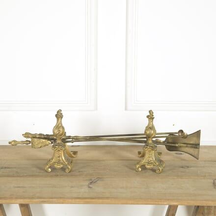 19th Century Rococo-Style Brass Fire Tools DA889800