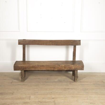 19th Century Rustic Folk Art Bench SB7715657