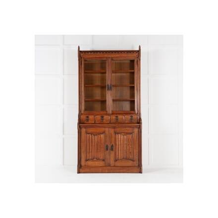 19th Century Solid Oak Bookcase BK0615346