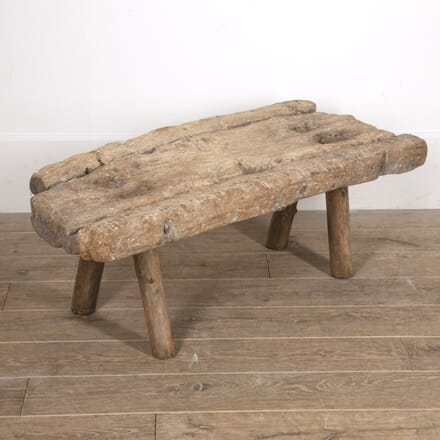 Spanish 19th Century Folk Art Butcher's Bench SB7716065