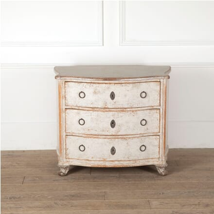19th Century Swedish Bow Front Commode CC6011293