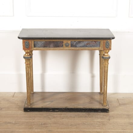 Swedish 19th Century Gilt and Marble Console Table CO4116402