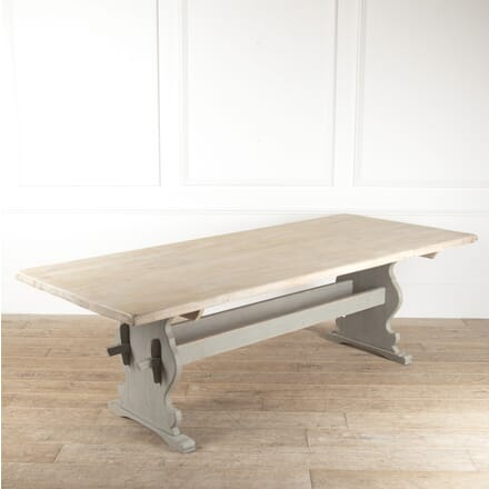 19th Century Long Swedish Oak Dining Table DA4414096