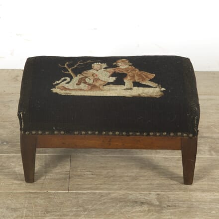 19th Century Tapestry Footstool ST159740