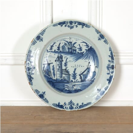 19th Century Tin Glazed Charger DA9011254