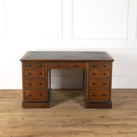 19th Century Walnut and Ebonised Pedestal Desk DB104417