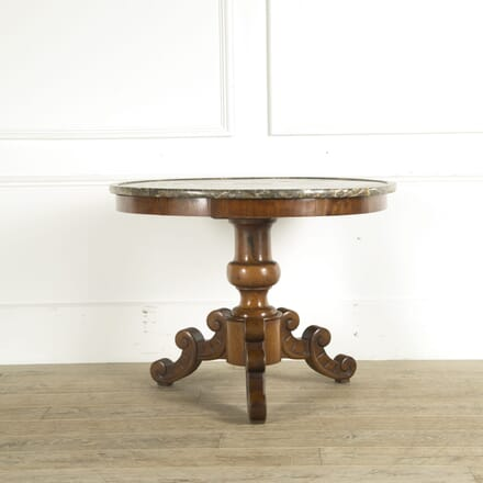 19th Century Walnut Marble Top Gueridon TC529781