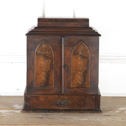 19th Century Walnut Vestry Cabinet DA8113941
