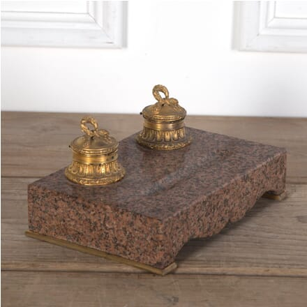 19th Century Swedish Granite and Ormolu Inkwell DA3610286